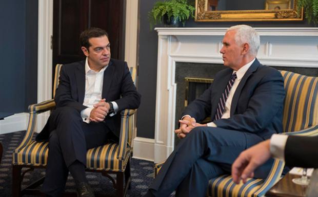 Eνέργεια, εμπόριο και Άμυνα στο επίκεντρο της συζήτησης Τσίπρα – Πενς