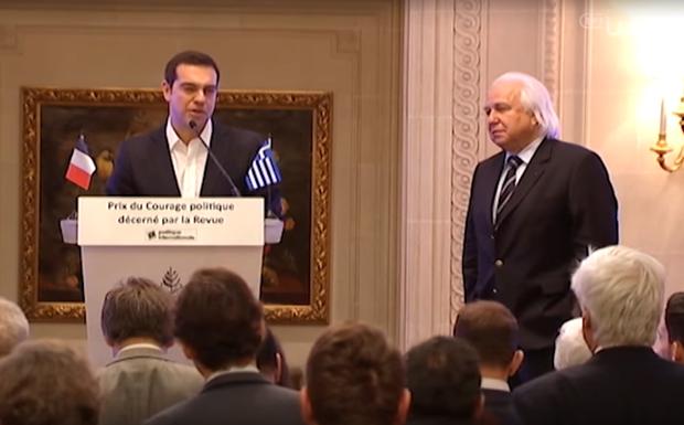 Τσίπρας: «Παραλαμβάνω το βραβείο στο όνομα του ελληνικού λαού»