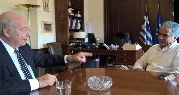 Συνάντηση του Υπουργού Εσωτερικών με τον Δήμαρχο της Κεφαλονιάς