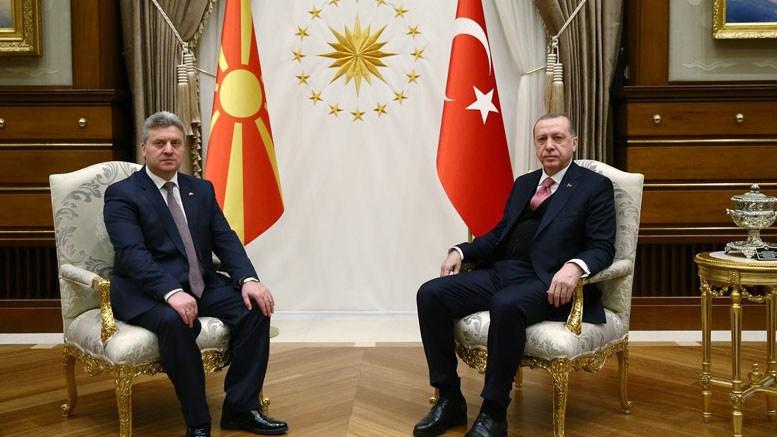 Προκλητικές δηλώσεις από τον Πρόεδρο της ΠΓΔΜ Ιβάνοφ κατά της Ελλάδας με τον Ερντογάν στο πλευρό του