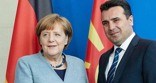 Μέρκελ σε Ζάεφ: Καλωσορίζω τον Μακεδόνα Πρωθυπουργό (βίντεο)