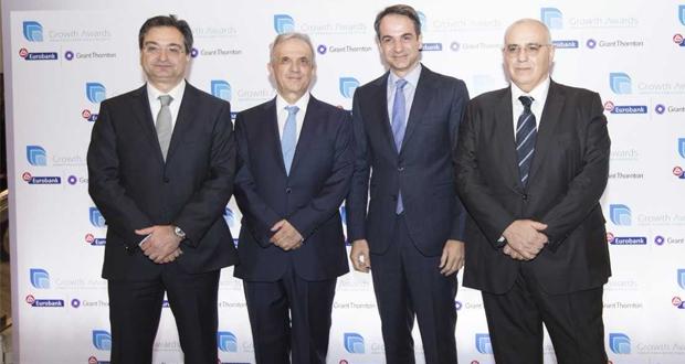 """Η Eurobank και η Grant Thornton απονέμουν τα Βραβεία """"Growth Awards"""""""