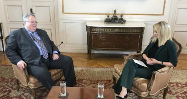 """Ν. Κοτζιάς στο Euronews: Μπορούμε να αποδεχθούμε σύνθετη ονομασία με """"Σλαβική χροιά"""" (βίντεο)"""