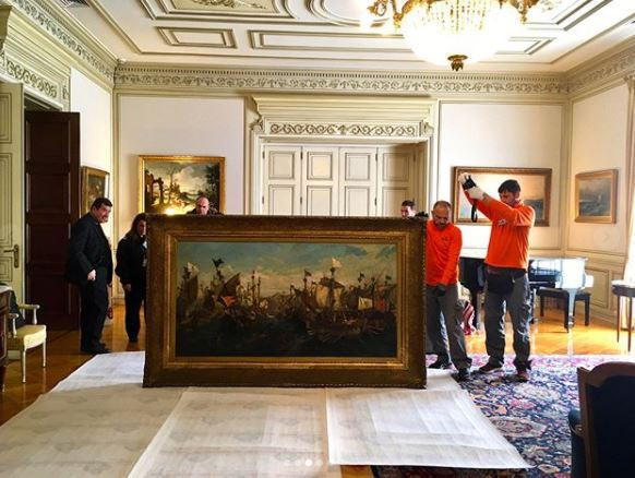 Ένας καινούργιος πίνακας στο Μέγαρο Μαξίμου – Η ανάρτηση του πρωθυπουργού στο Instagram