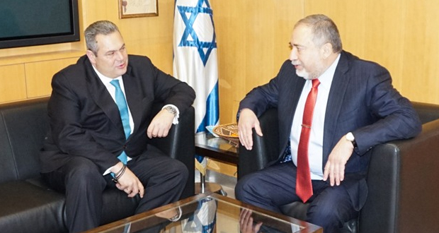 Η αμυντική συνεργασία στη συνάντηση Π. Καμμένου με τον Ισραηλινό ομόλογό του Ισραήλ Avigdor Liberman