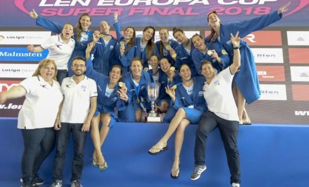 Χρυσή η Εθνική πόλο γυναικών. κατέκτησε το χρυσό μετάλλιο στο Europa Cup.