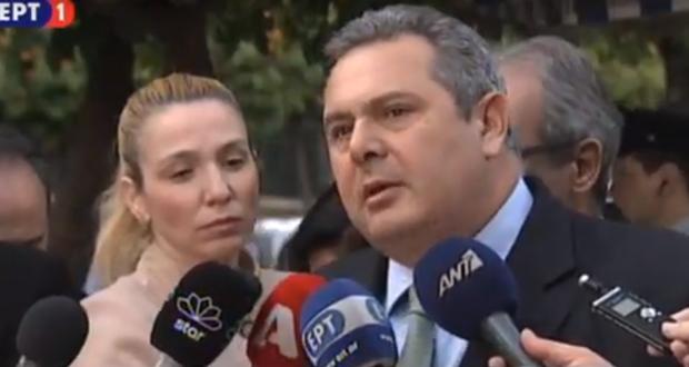 Καμμένος μετά τη συνάντηση με Τσίπρα: Συνεχίζουμε στην κυβέρνηση μέχρι τέλους (βίντεο)