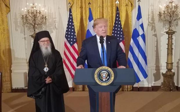 Ο Θεός να ευλογεί την Ελλάδα και τις ΗΠΑ, είπε ο Πρόεδρος Ντόναλντ Τραμπ