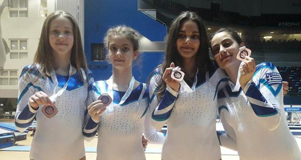 Χάλκινο μετάλλιο για την Εθνική νεανίδων στην πρεμιέρα του ευρωπαϊκού πρωταθλήματος τραμπολίνο