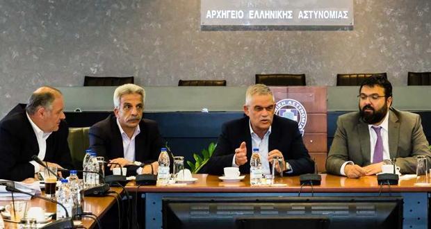 Σύσκεψη Ν. Τόσκα και Γ. Βασιλειάδη, με τη συμμετοχή της ηγεσίας της ΕΛ.ΑΣ.