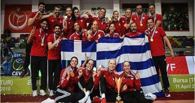 Μυθικός θρίαμβος στο βόλεϊ για τις γυναίκες του Ολυμπιακού – Πήραν το Ευρωπαϊκό μέσα στην Τουρκία (βίντεο)