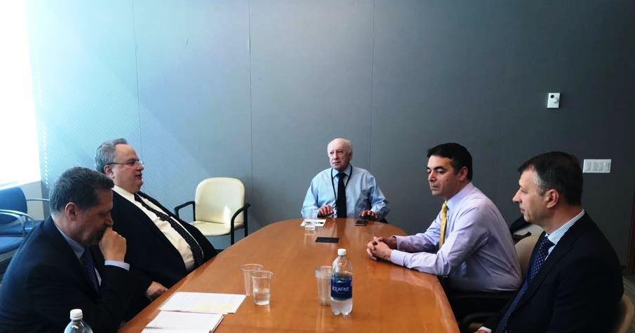 Σκοπιανό: Δεν συμφώνησαν στη Νέα Υόρκη – Συνεχίζονται στις Βρυξέλλες οι διαπραγματεύσεις