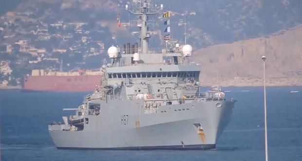 Στον Πειραιά το HMS Echo H87 που θα επισκεφθεί ο πρίγκιπας Κάρολος (βίντεο)