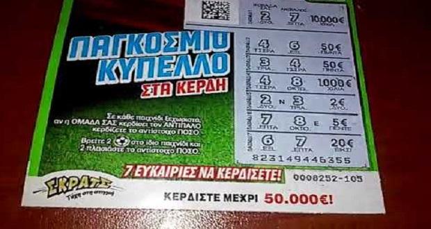 ΣΚΡΑΤΣ: Κέρδη 3.003.580 ευρώ την προηγούμενη εβδομάδα