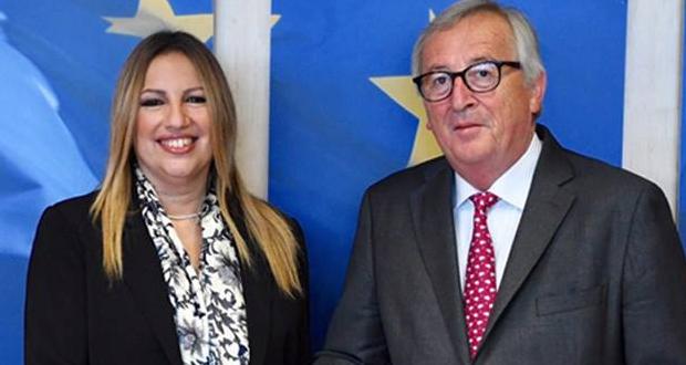 Φ. Γεννηματά προς Γιούνκερ: Αποφασιστική συμβολή της Ευρωπαϊκής Επιτροπής για την ελάφρυνση του Δημοσίου χρέους της χώρας
