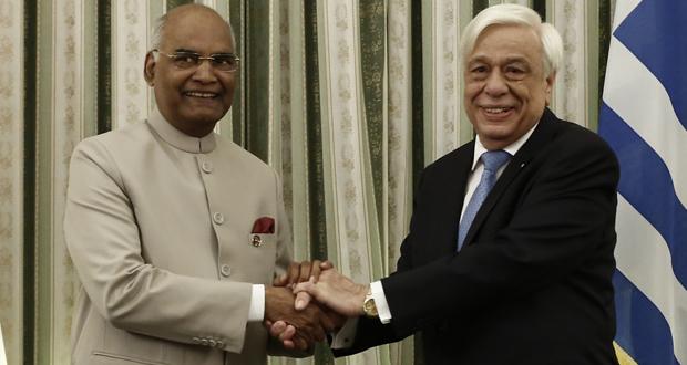 Πρ. Παυλόπουλος σε Ram Nath Kovind: Η επίσκεψη αυτή επιβεβαιώνει την οικοδόμηση δεσμών συνεργασίας και εμπιστοσύνης μεταξύ Αθηνών και Ν. Δελχί