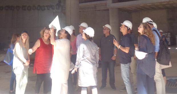 Eπίσκεψη της Υπουργού Πολιτισμού κας Λυδίας Κονιόρδου στο εργοτάξιο της Εθνικής Πινακοθήκης-Μουσείου Αλεξάνδρου Σούτσου.