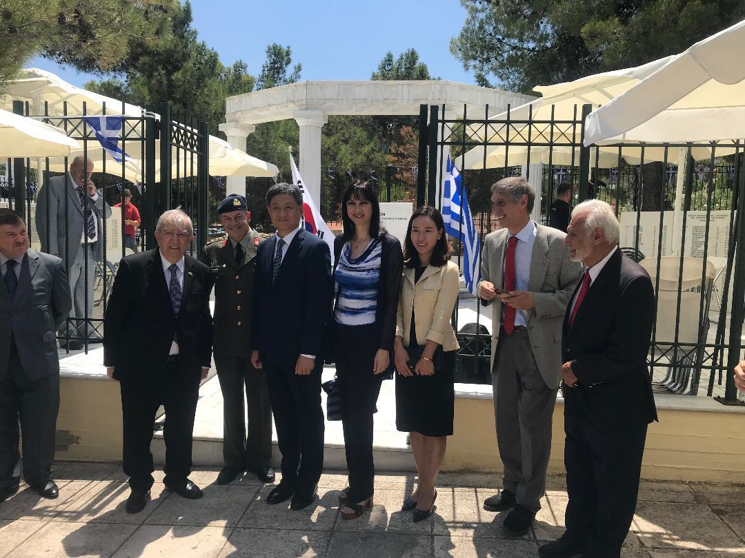 Η Έλ.Κουντουρά χαιρέτισε στην τελετή της 68ης Επετείου του Κορεατικού Πολέμου και στην κατάθεση στεφάνου στο Ηρώο Ελλήνων Πεσόντων
