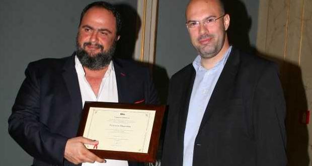 Βράβευση του Β. Μαρινάκη για την συνεισφορά του στην Τοπική Αυτοδιοίκηση και στον Δήμο Πειραιά