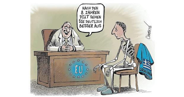 Το συγκλονιστικό σκίτσο του Der Spiegel για το τέλος του ελληνικού προγράμματος