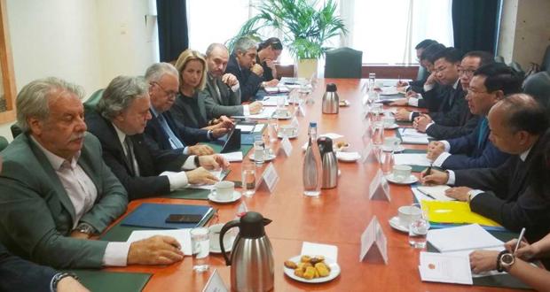 Συνάντηση του Γιάννη Δραγασάκη με τον Αναπληρωτή Πρωθυπουργό και Υπουργό Εξωτερικών της Σοσιαλιστικής Δημοκρατίας του Βιετνάμ