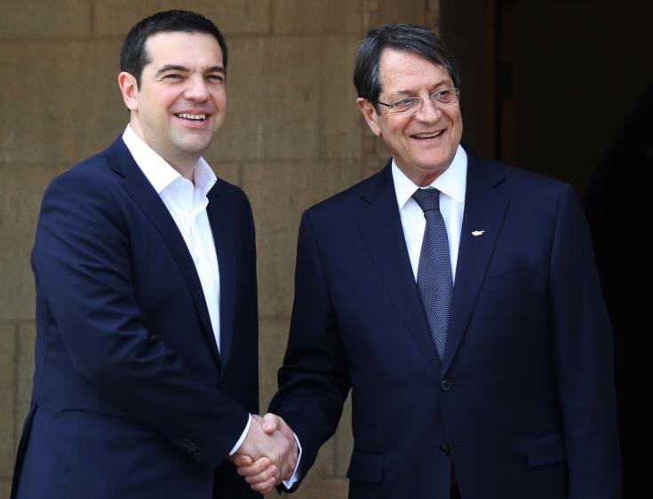 Επικοινωνία Αναστασιάδη-Τσίπρα για τη συνάντηση Έλληνα Πρωθυπουργού με Ερντογάν