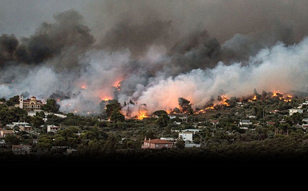 Ακυρώνει την έκθεση Συνολάκη το Αστεροσκοπείο: Η φωτιά σάρωσε τα πάντα μέσα σε 100 λεπτά!