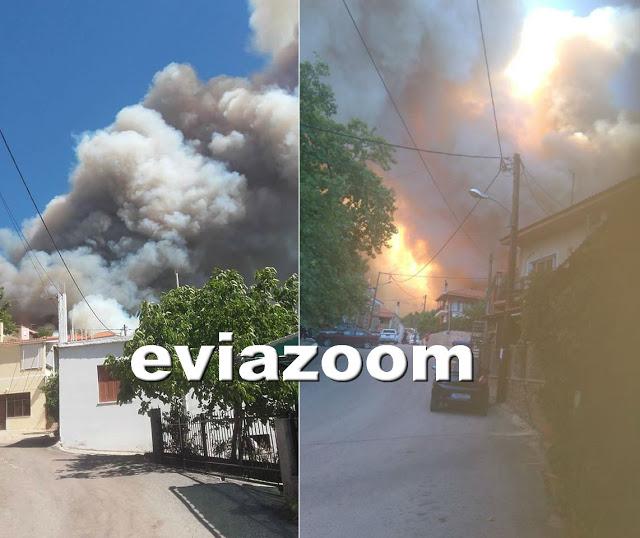 Εύβοια: Εκκενώνονται προληπτικά δύο χωριά λόγω πυρκαγιάς