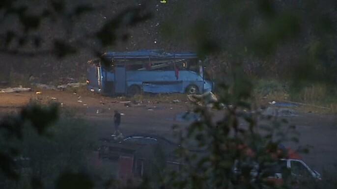 Εθνικό πένθος στη Βουλγαρία μετά από πολύνεκρο δυστύχημα λεωφορείου