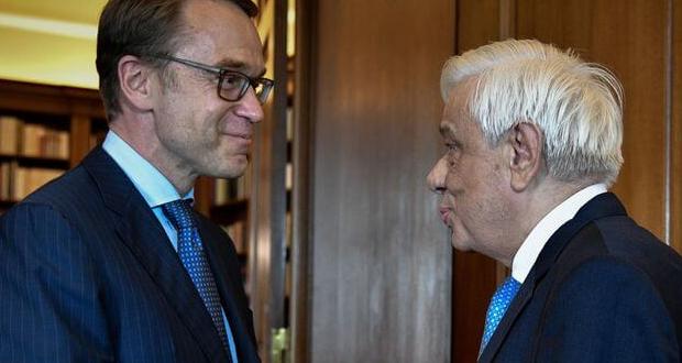 Παυλόπουλος στον Γενς Βάιντμαν: Η Ελλάδα χρειάζεται τη στήριξη των εταίρων της –  ελληνικός λαός πλήρωσε και για λάθη που δεν ήταν δικά του»