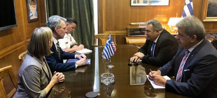 Συνάντηση Πάνου Καμμένου με τον Αμερικανό πρέσβη