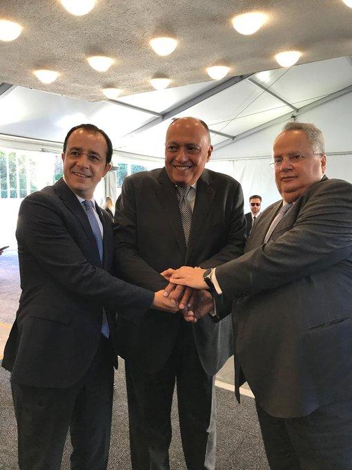 Τριμερής συνάντηση ΥΠΕΞ Κύπρου – Ελλάδας – Αιγύπτου