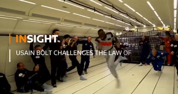 Δείτε τον Usain Bolt να τρέχει σε… μηδενική βαρύτητα