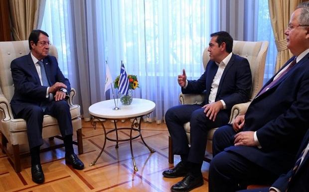 Τσίπρας και Αναστασιάδης επιβεβαίωσαν την κοινή πορεία: Κυπριακό, ενέργεια, ασφάλεια στην περιοχή