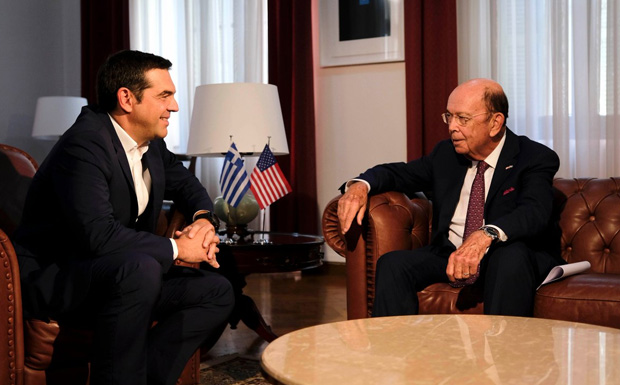 Ρος σε Τσίπρα: Οι ΗΠΑ στηρίζουν την Ελλάδα και την οικονομία της
