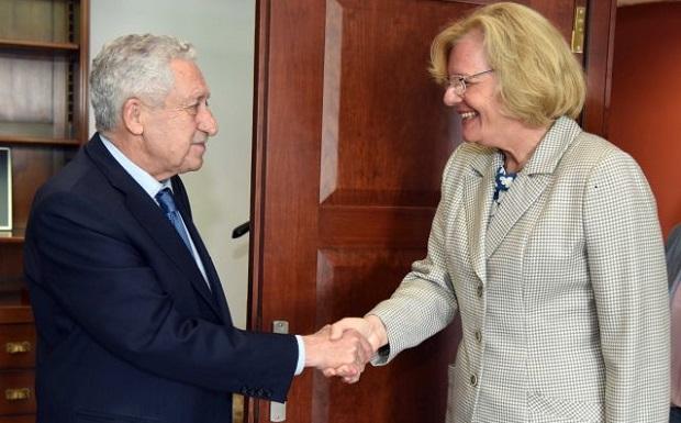 Διμερής συνάντηση κ. ΥΝΑΝΠ με την Πρέσβη της Αυστρίας στην Ελλάδα κα Andrea Ikic-Böhm