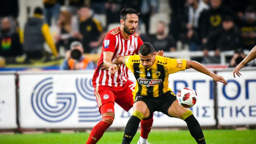 Φορτούνης και Μπακασέτας υπέγραψαν στο ΑΕΚ-Ολυμπιακός 1-1