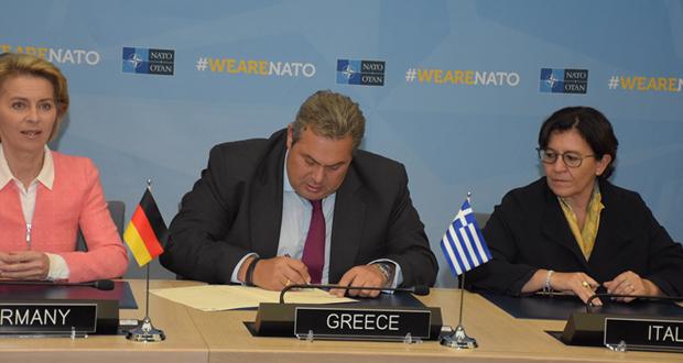 Δήλωση ΥΕΘΑ Πάνου Καμμένου στη Σύνοδο των Υπουργών Άμυνας του ΝΑΤΟ στις Βρυξέλλες