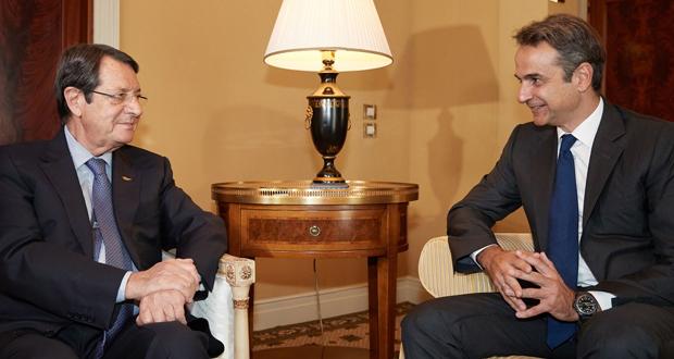 Συνάντηση του Προέδρου της Ν.Δ. κ. Κυριάκου Μητσοτάκη με τον Πρόεδρο της Κυπριακής Δημοκρατίας κ. Νίκο Αναστασιάδη