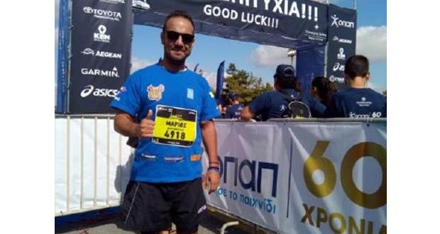 Συμμετείχε στον Ημιμαραθώνιο Κρήτης ο Αγρινιώτης αιμοκαθαιρόμενος αθλητής Μάριος Μαρκόπουλος