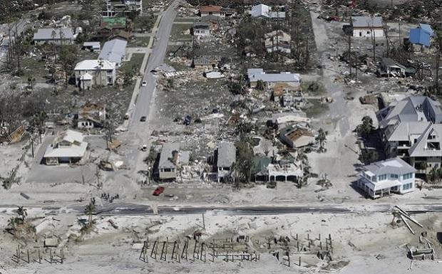 Τυφώνας Μάικλ: Εξαφάνισε μια ολόκληρη πόλη – Συγκλονιστικό βίντεο