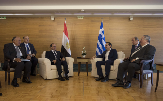 Ξεκίνησε η 6η Τριμερής Σύνοδος Κορυφής Ελλάδας – Κύπρου – Αιγύπτου