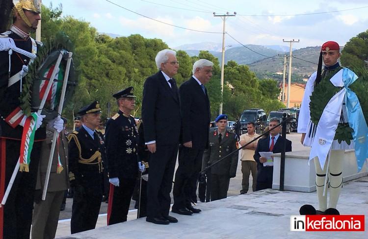 Μεγάλη στιγμή για την Κεφαλονιά όταν την ημέρα της Εθνικής Επετείου κατέθεσε στεφάνι μαζί με τον Πρόεδρο της Δημοκρατίας και ο Πρόεδρος της Ιταλικής Δημοκρατίας