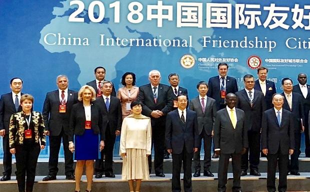 Στη Διεθνή Διάσκεψη της Ένωσης Φιλίας της Κίνας με πόλεις ξένων χωρών ο Πρόεδρος της ΚΕΔΕ Γ. Πατούλης