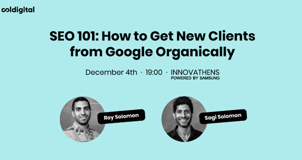 SEO 101: How to Get New Clients from Google Organically @INNOVATHENS powered by Samsung