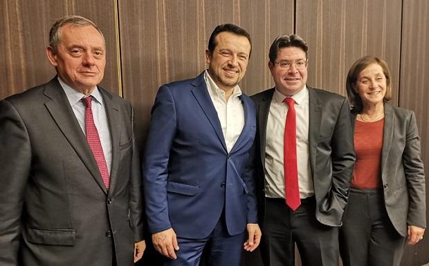 Συνάντηση Εργασίας του υπουργού ΨΗΠΤΕ, Νίκου Παππά, με τον υπουργό Επιστημών και Τεχνολογίας του Ισραήλ, Ofir Akunis