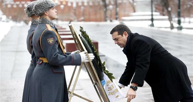 Μόσχα: Στεφάνι στο μνημείο Αγνώστου Στρατιώτη κατέθεσε ο Αλ. Τσίπρας