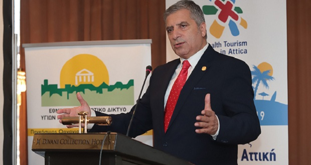 Tην Εθνική Στρατηγική, για να καταστεί η Αττική Μητρόπολη Υγείας και Ευεξίας, παρουσίασε ο πρόεδρος του ΙΣΑ Γ. Πατούλης