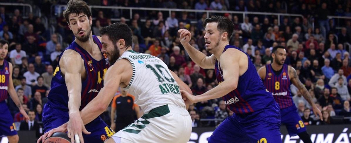Πάλεψε, αλλά λύγισε στη Βαρκελώνη ο Παναθηναϊκός ΟΠΑΠ – Ήττα με 79-68 από την Μπαρτσελόνα