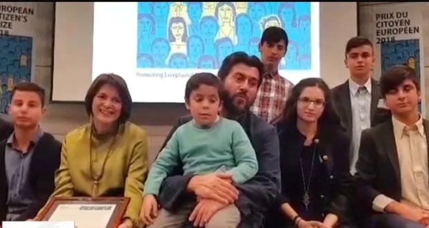 Το βραβείο του Ευρωπαίου Πολίτη στον πατέρα Αντώνιο (βίντεο)